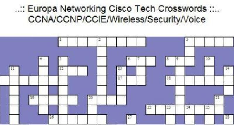Cisco Games: Puzzels and Crosswords
